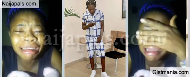 """""""After Everything I Did, Naira Marley Came Out Of EFCC Custody & Forgot Me"""" – Lady Cries Bitterly"""
