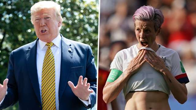 'She should win before she talks' – Trump hits back at Rapinoe as White House row rumbles on