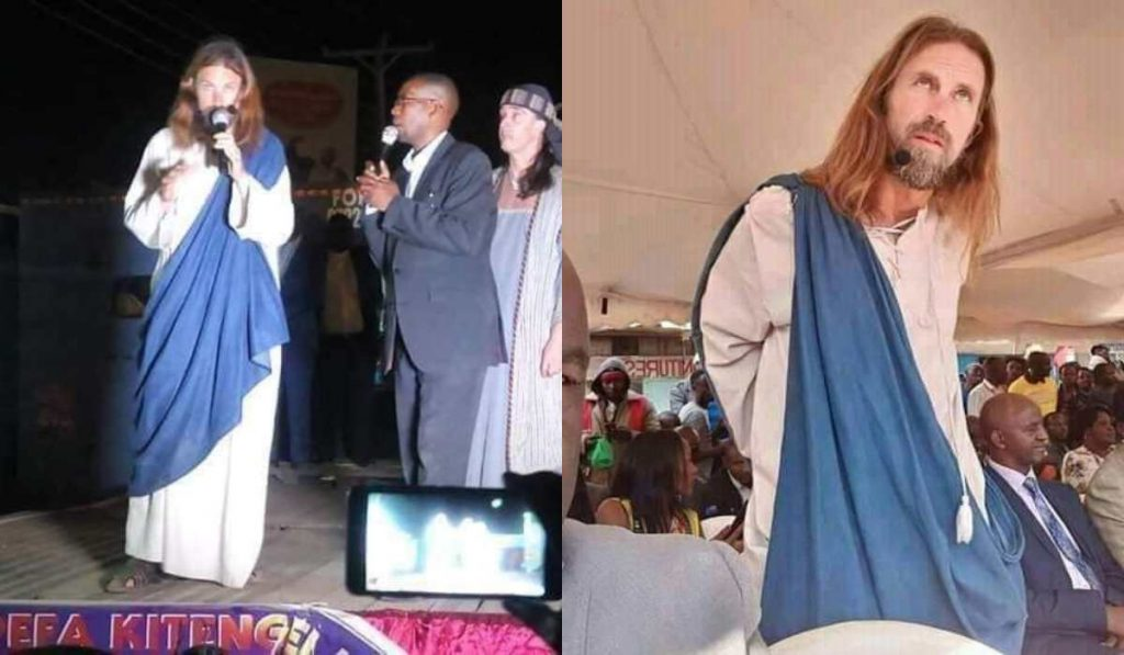 Kenyan Pastor Claims To Have Found Jesus, Takes Him To His Church To Meet His Congregation (Photo)
