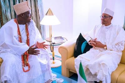 President Buhari Meets Ooni Of Ife In Abuja (Photos)