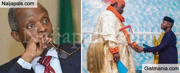 Photo Of VP, Yemi Osinbajo & The King Of Ogulagha Kingdom That People Are Talking About