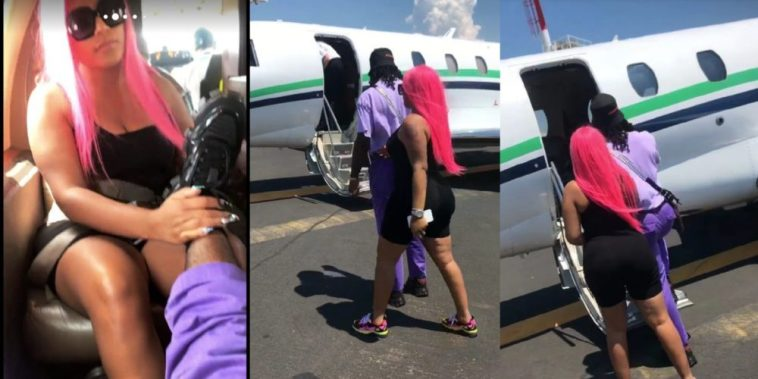 Burna Boy Shares Video Of A Private Jet Trip With Girlfriend, Stefflon Don