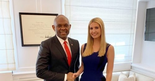 Billionaire, Tony Elumelu Pictured With Donald Trump's Daughter, Ivanka At The White House