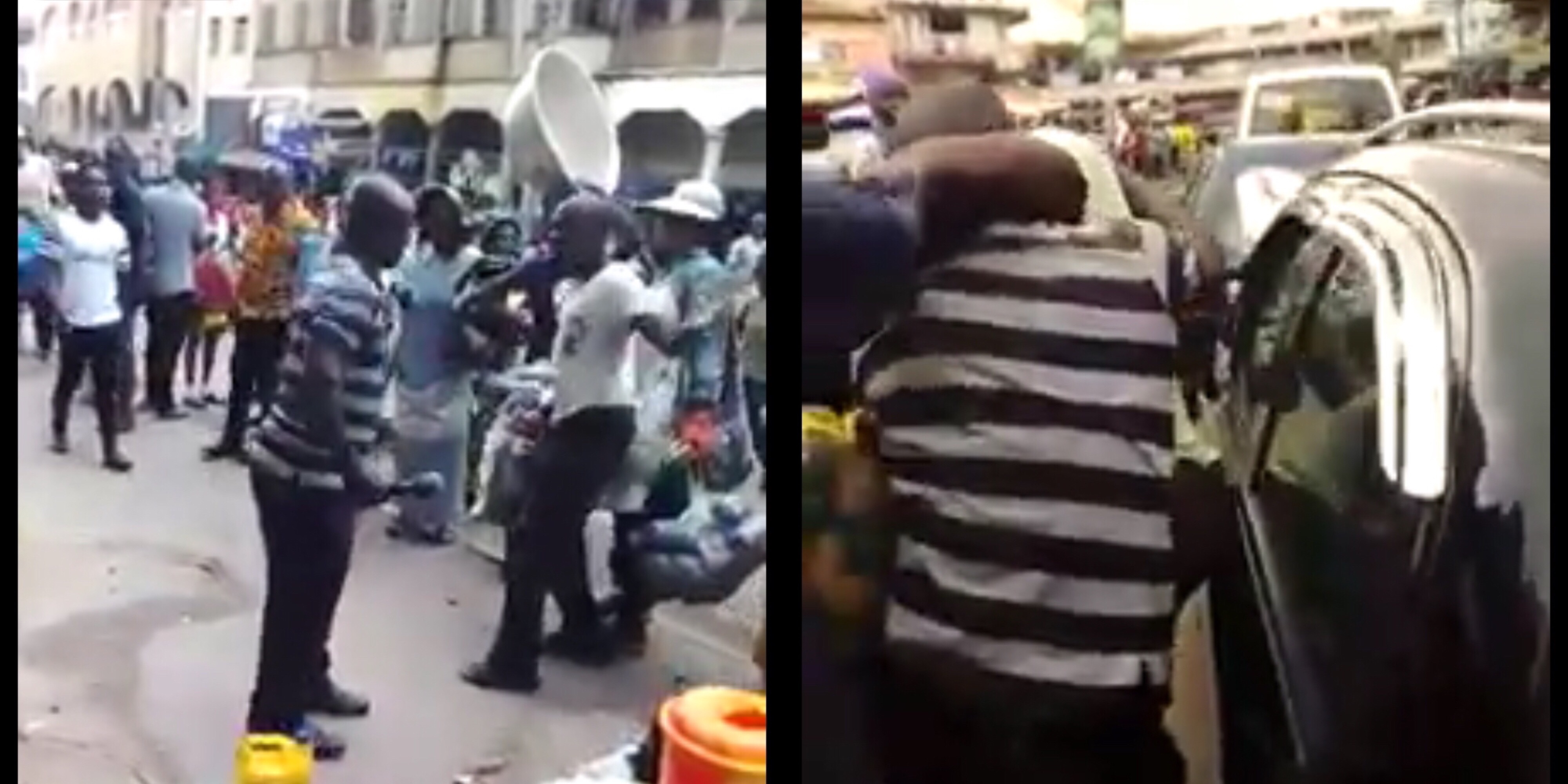 Two Pastors Exchange Hot Blows inside Market Over Space To Preach (VID)