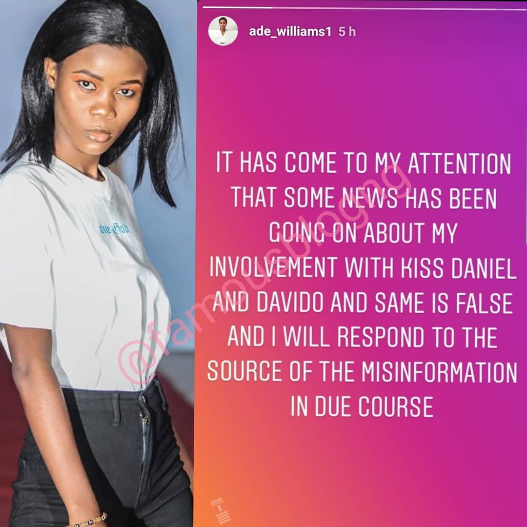 Nigerian Model Rumoured To Be Pregnant For Kizz Daniel Denies Report