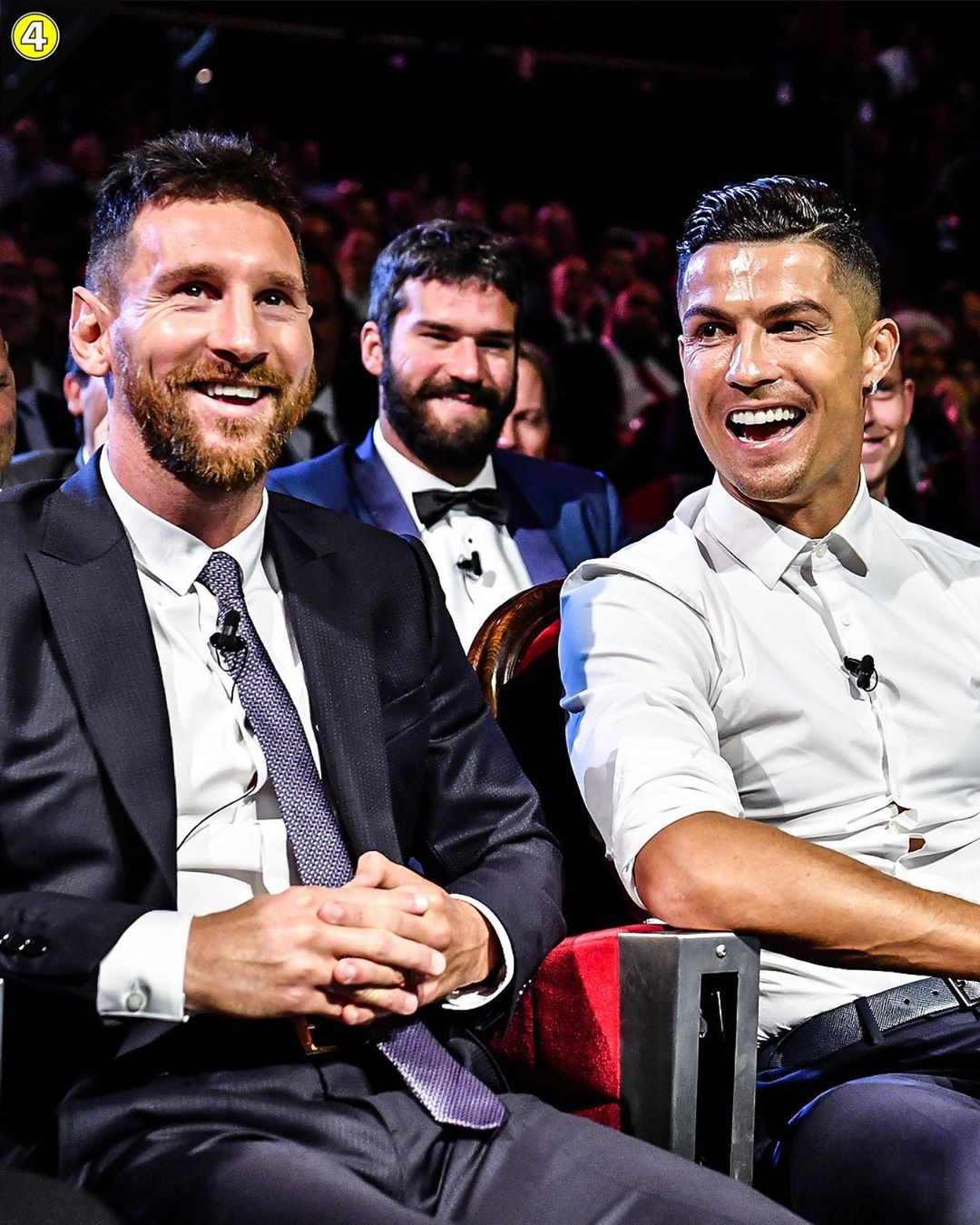 (VIDEO) Cristiano Ronaldo Asking Lionel Messi Out To Dinner After They Both Lost The UEFA Awards