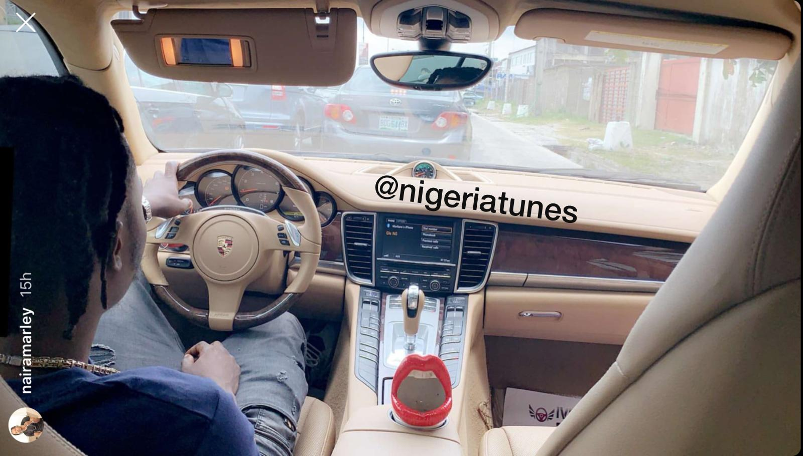 'Soapy' Crooner Naira Marley Joins The Porsche Gang Flaunts His Latest Acquisition (Video)