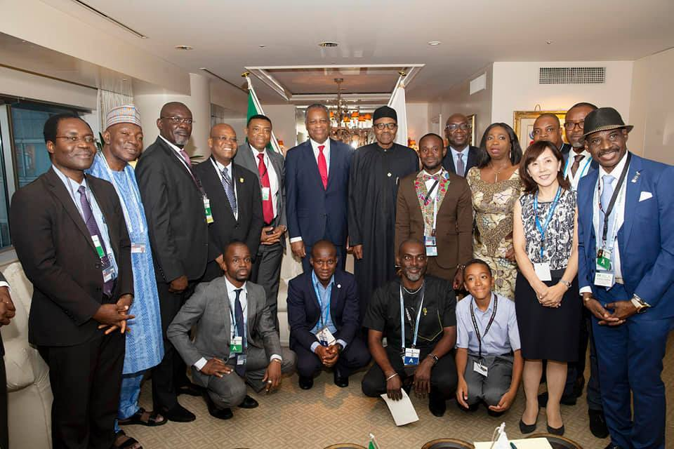 What IPOB? President Buhari Up And About In Japan Meets With Nigerians There (Photos)