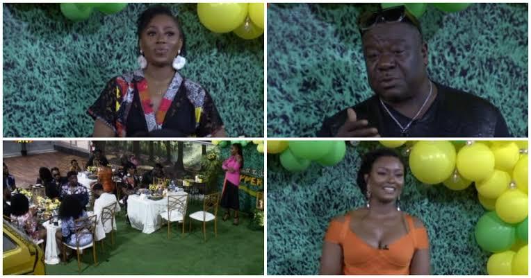 (Vid+Photo): Nollywood Stars, Mr. Ibu, Patience Ozokwor & Others Visit BBNaija Housemates