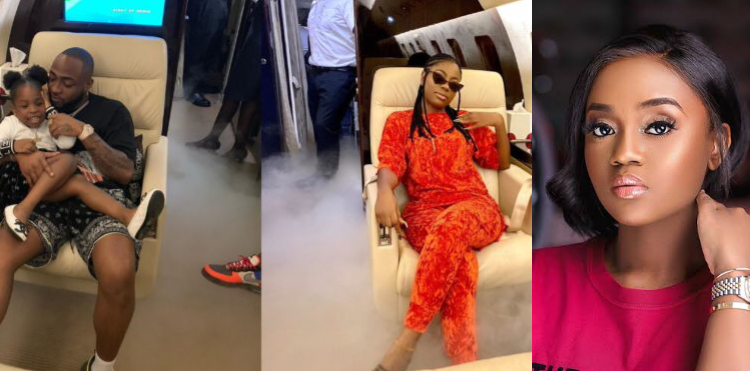 Davido's Baby Mama, Sophia Momodu Receives Praises From Fans For Flying With Him To Ghana